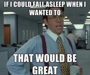 want sleep